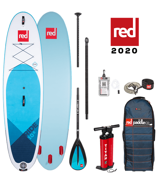 10'6'' RIDE Red Paddle 2020 SUP Package