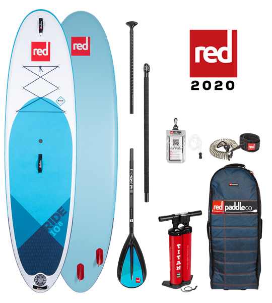 10'8'' RIDE Red Paddle 2020 SUP Package