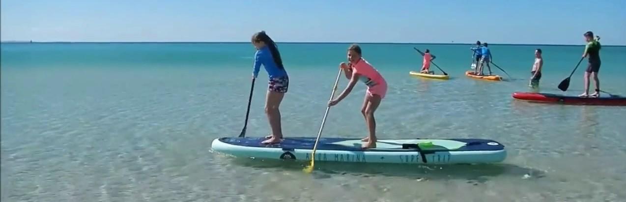 aqua marina super trip sup paddle board landscape