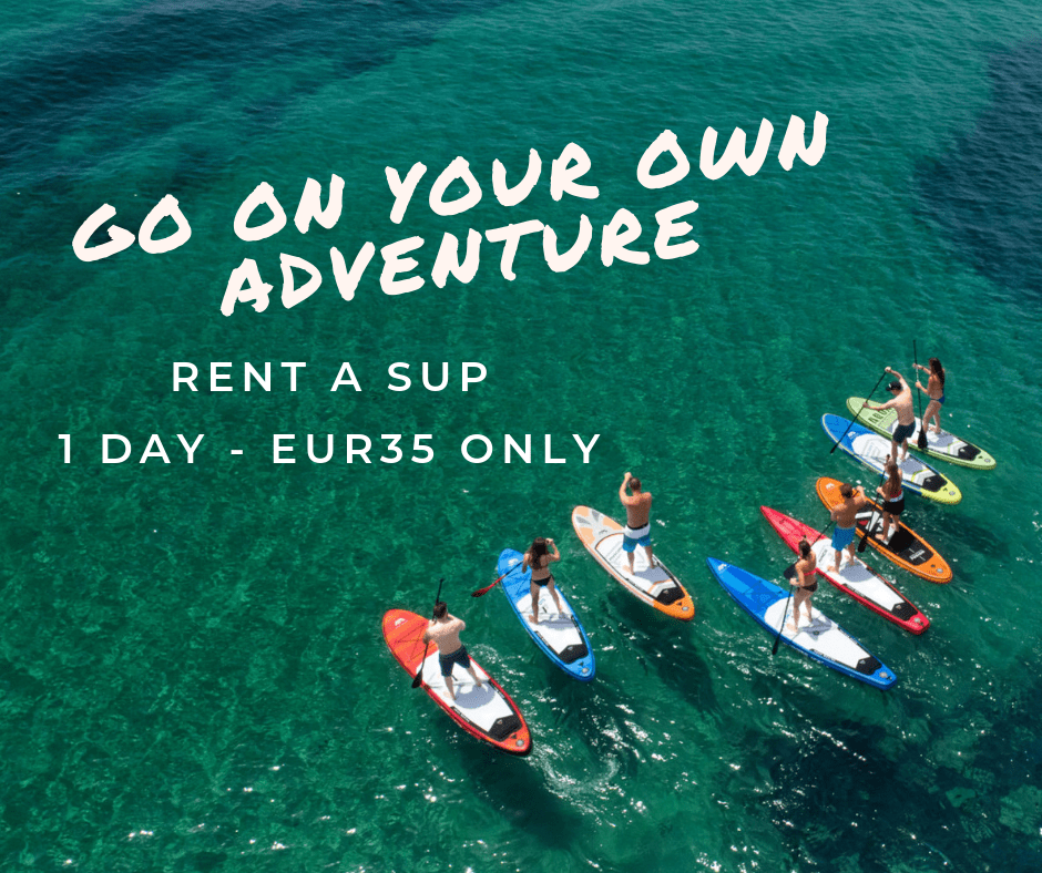 Paddle Board Hire only €35 for 24hrs