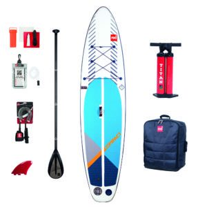 red paddle compact inflatable sup paddle board