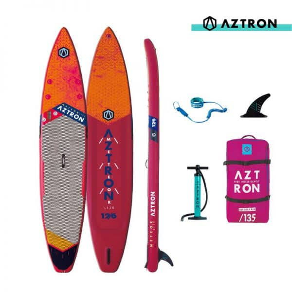 12'6 METEORLITE Aztron Double Chamber SUP Paddle Board