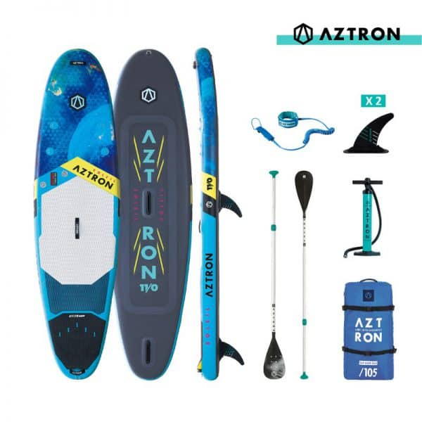 11'0 SOLEIL Aztron Double Chamber SUP & Wind Paddle Board