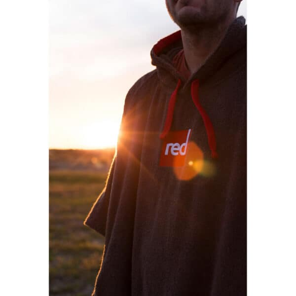 Red Paddle Toweling Changing Robe